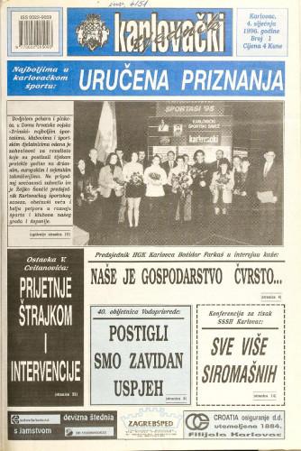 Karlovački tjednik: 1996 • 1