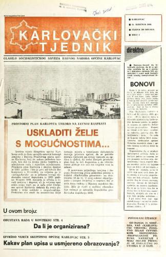 Karlovački tjednik: 1988 • 3
