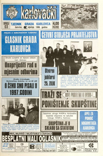 Karlovački tjednik: 1998 • 3