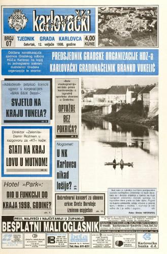 Karlovački tjednik: 1998 • 7