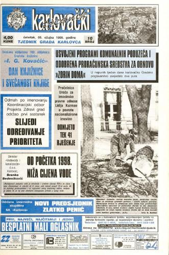 Karlovački tjednik: 1998 • 10