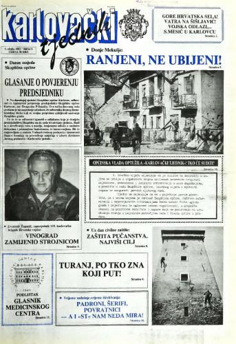 Karlovački tjednik: 1992 • 9