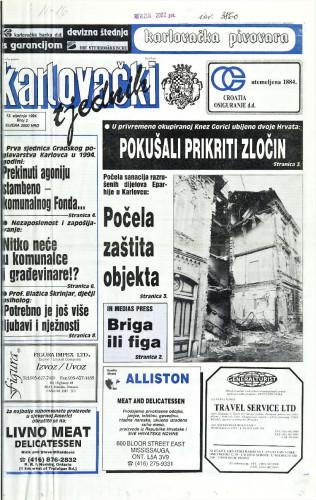 Karlovački tjednik: 1994 • 2