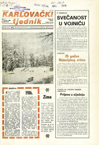 Karlovački tjednik: 1986 • 1