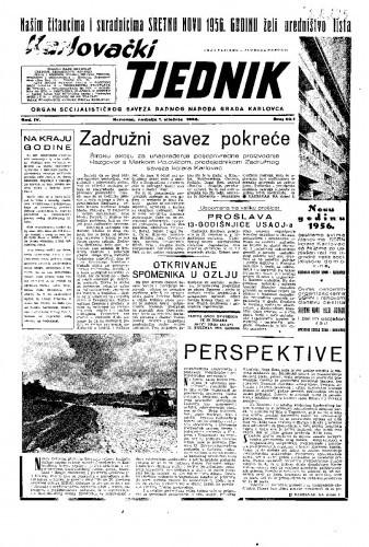 Karlovački tjednik: 1956 • 1