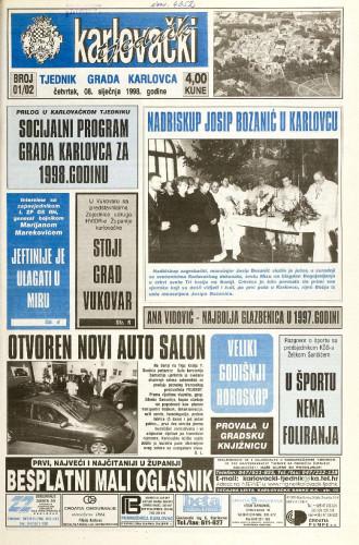 Karlovački tjednik: 1998 • 1/2
