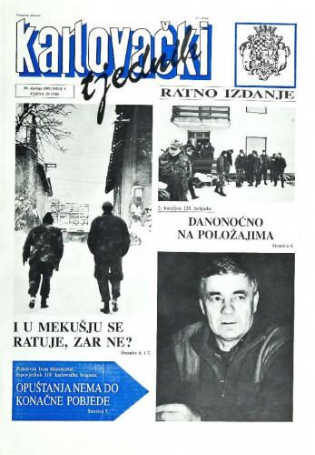 Karlovački tjednik: 1992 • 4