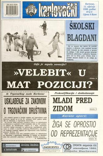 Karlovački tjednik: 1996 • 2