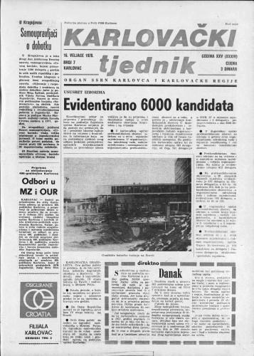 Karlovački tjednik: 1978 • 7