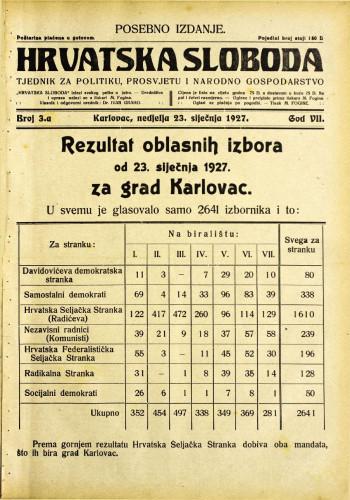 Hrvatska sloboda: 1927. • 3a