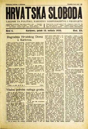 Hrvatska sloboda: 1932. • 6