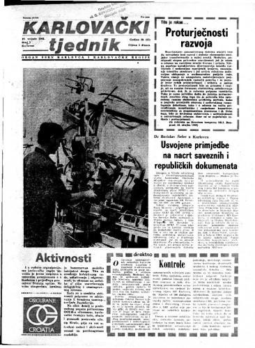 Karlovački tjednik: 1981 • 7