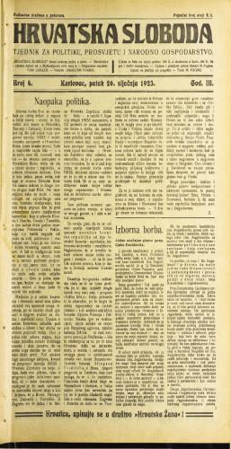 Hrvatska sloboda: 1923 • 4
