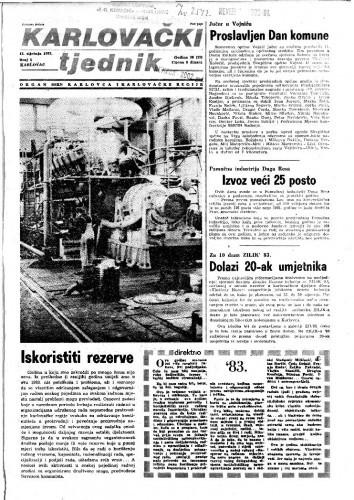 Karlovački tjednik: 1983 • 1