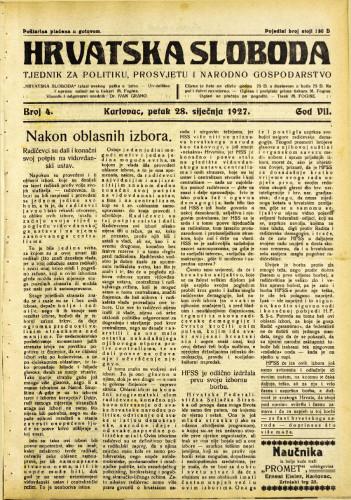 Hrvatska sloboda: 1927. • 4