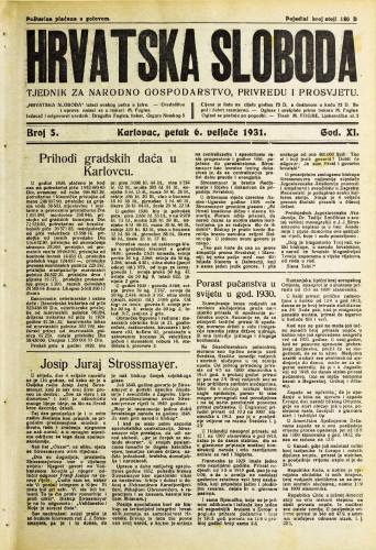 Hrvatska sloboda: 1931. • 5