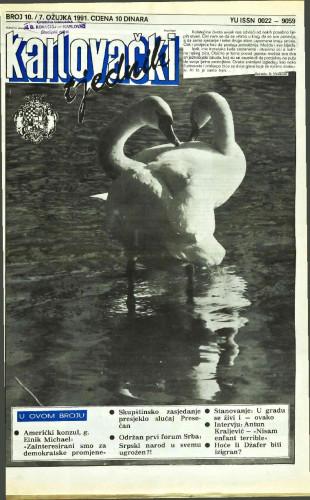 Karlovački tjednik: 1991 • 10
