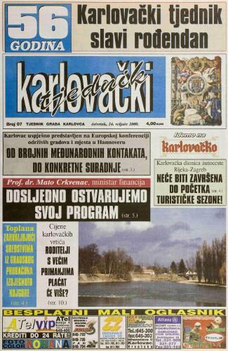 Karlovački tjednik: 2000 • 07