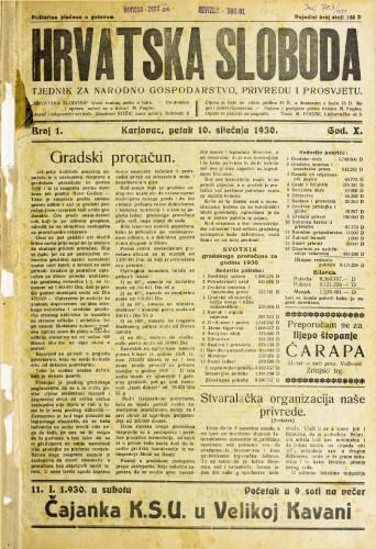 Hrvatska sloboda: 1930. • 1