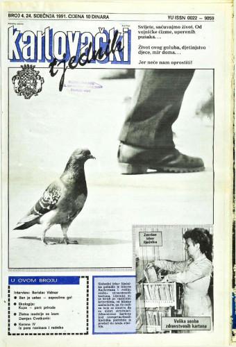 Karlovački tjednik: 1991 • 4