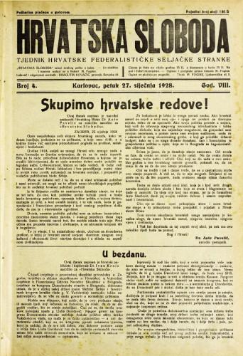 Hrvatska sloboda: 1928. • 4