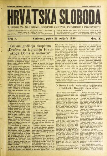 Hrvatska sloboda: 1930. • 7