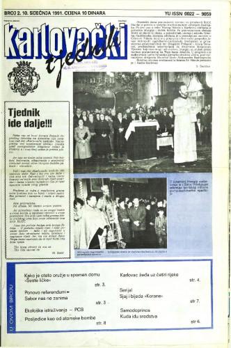 Karlovački tjednik: 1991 • 2