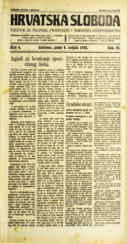Hrvatska sloboda: 1924. • 6
