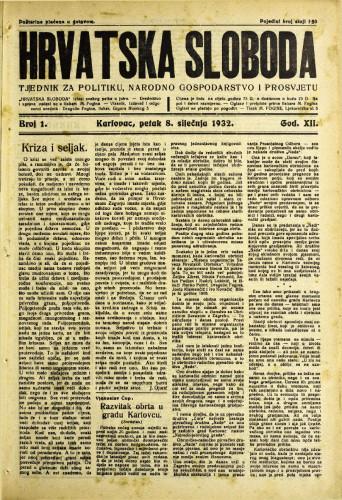 Hrvatska sloboda: 1932. • 1
