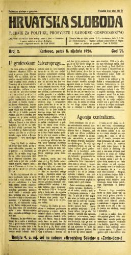 Hrvatska sloboda: 1926. • 2