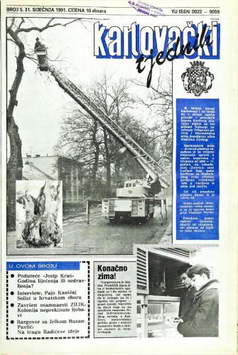 Karlovački tjednik: 1991 • 5